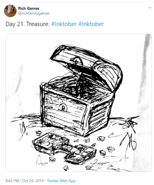 Inktober Day 21 Treasure