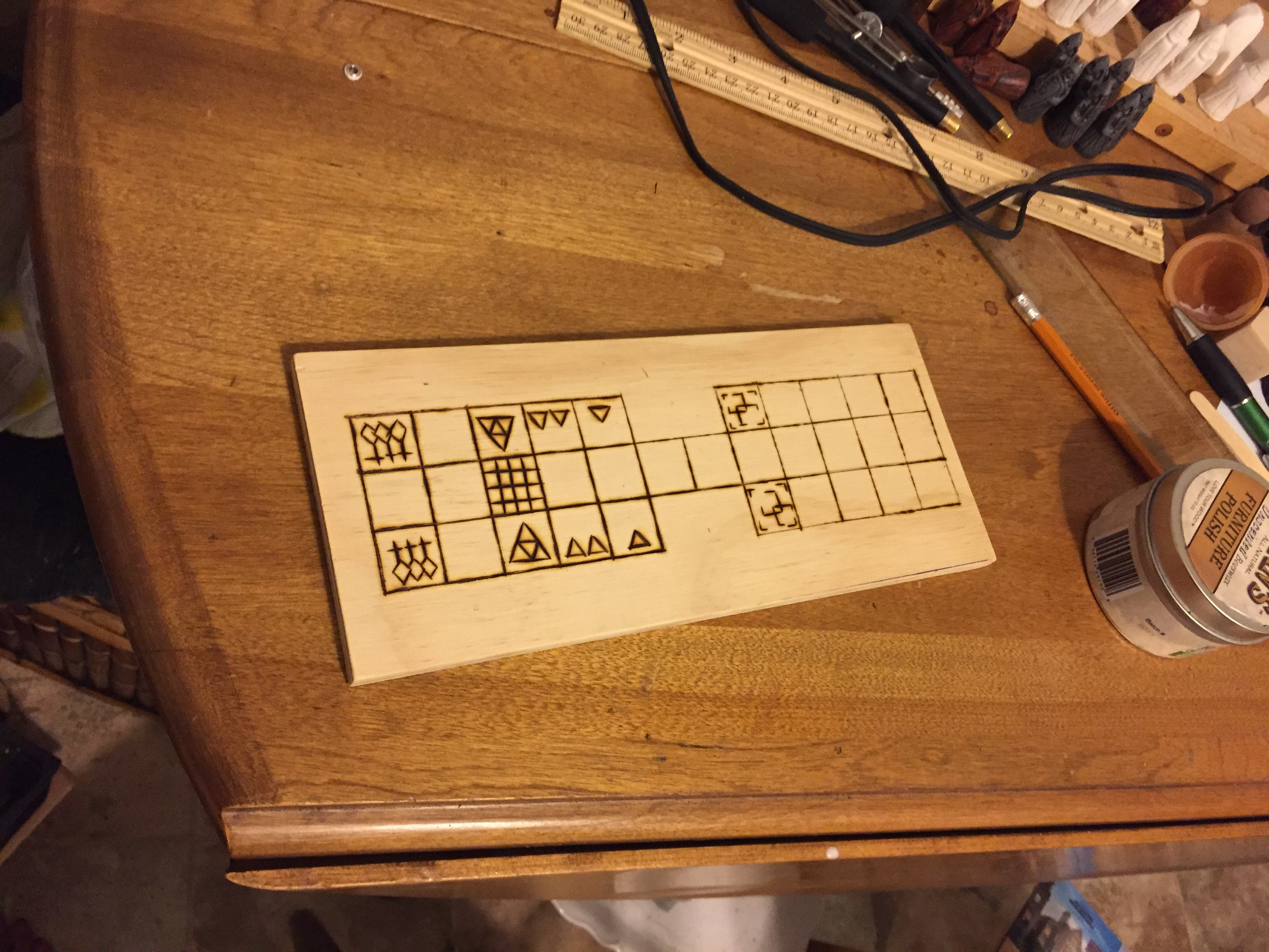 Making a Senet-Ur Board 2