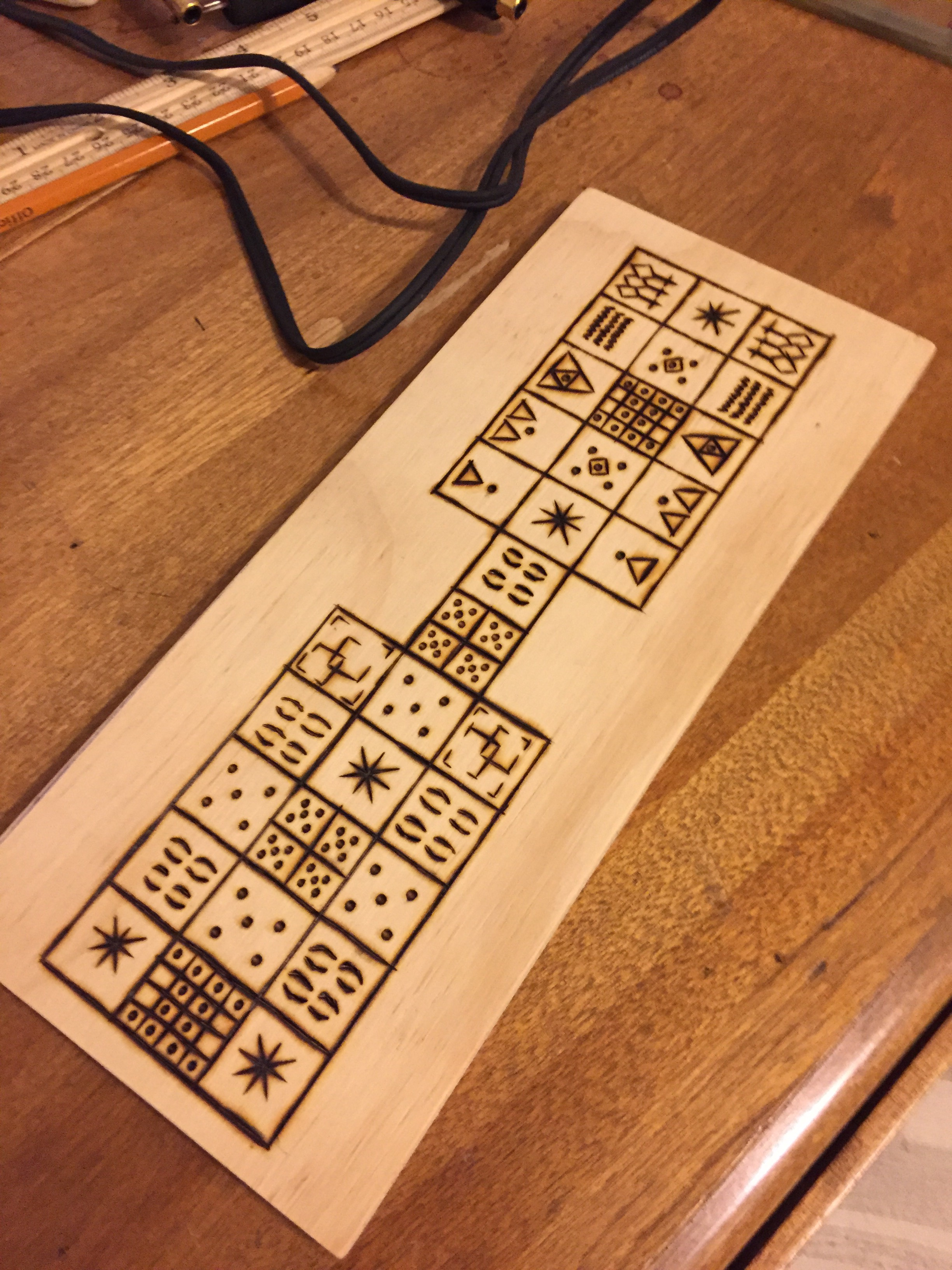 Making a Senet-Ur Board 3
