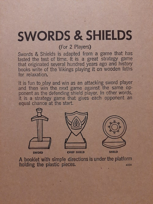 Swords and Shields inside cover